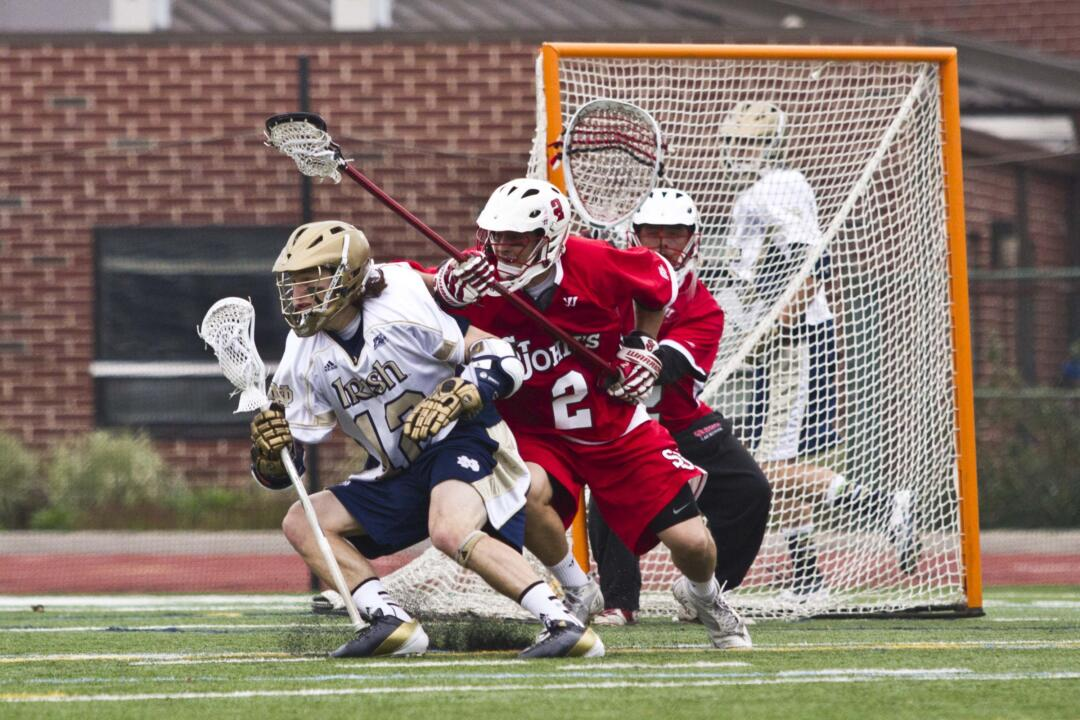Sophomore attackman Westy Hopkins led the Irish with three goals against St. John's.