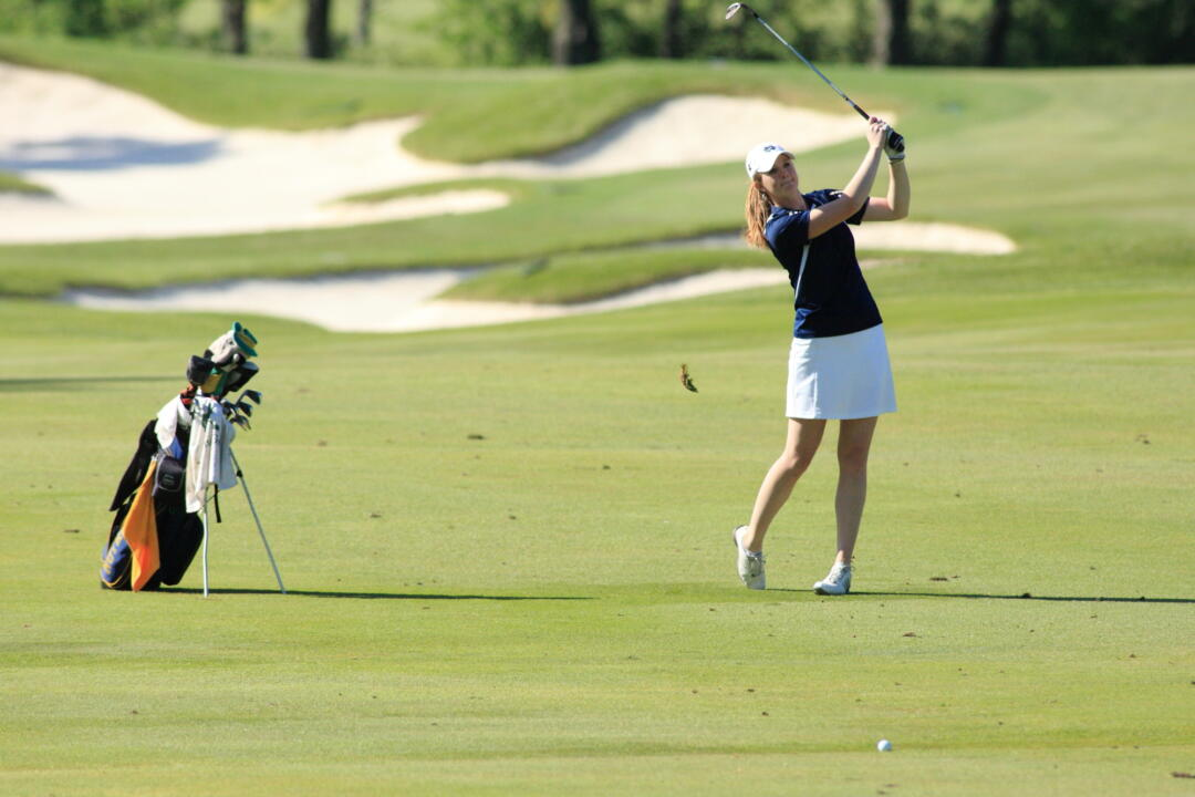 Becca Huffer fired a four-over par 76 in the final round of the NCAA Central Regional.  She finished in a tie for 26th in the tournament with a 12-over par 228.