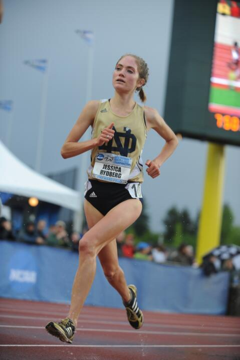 Junior Jessica Rydberg will look to earn the second All-America scroll of her career in the 10,000m.
