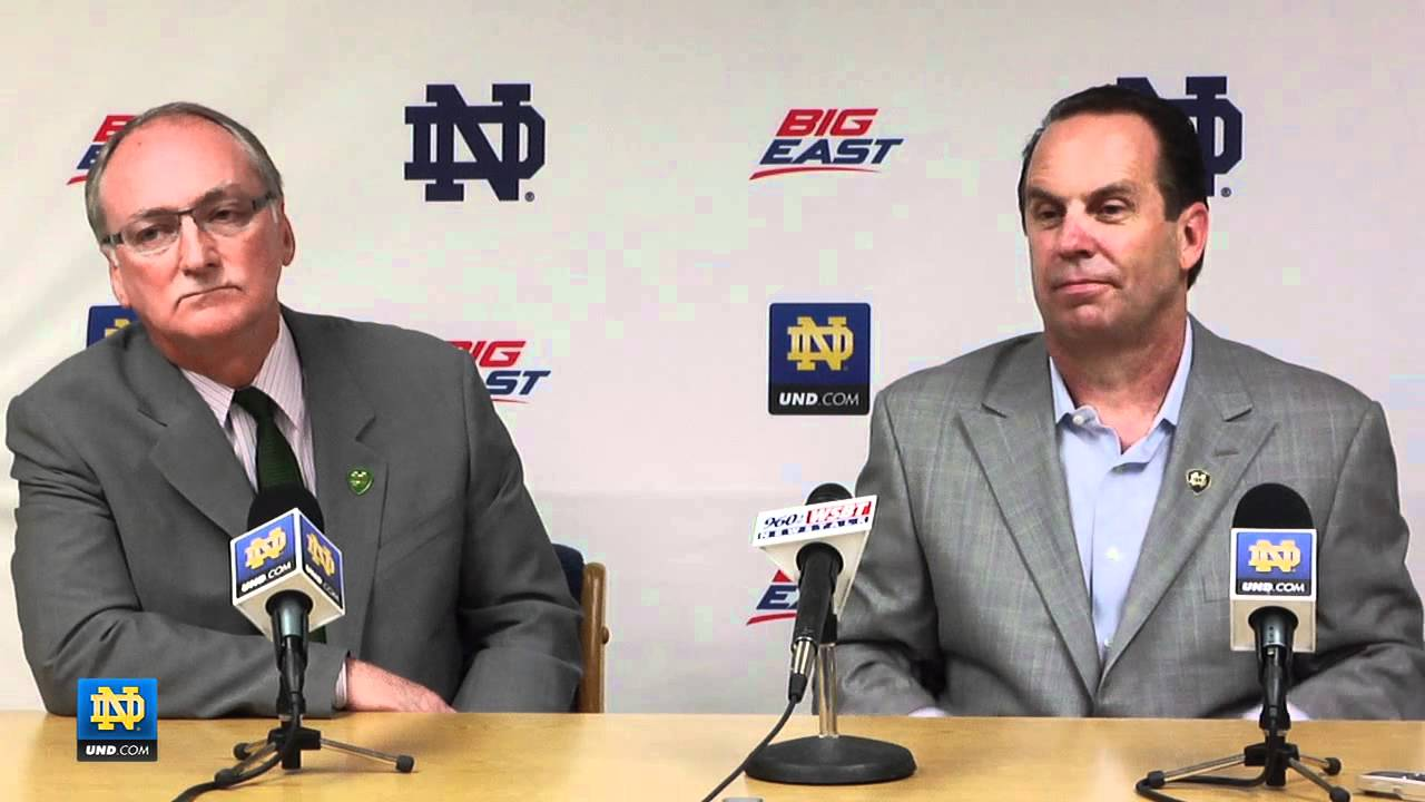 Notre Dame Men's Basketball - Mike Brey Contract Extension Press Conference