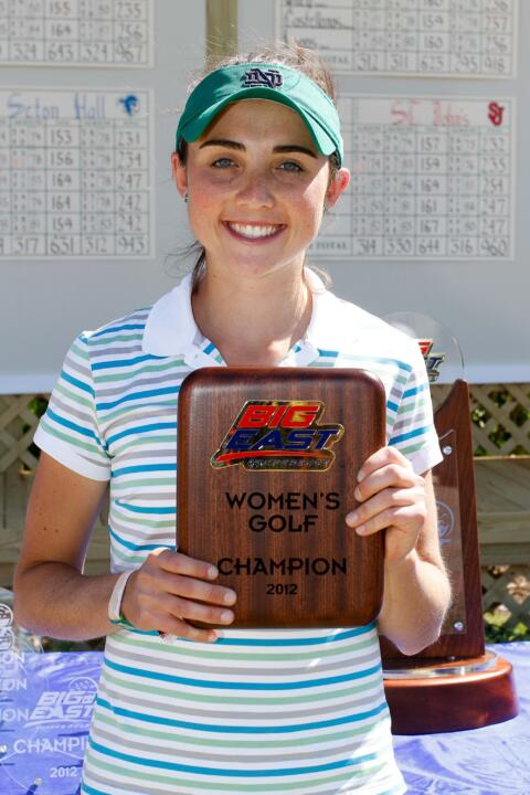 Notre Dame will be represented in fine fashion at this week's U.S. Women's Open in Kohler, Wis.  Ashley Armstrong will join Becca Huffer ('12) and incoming freshman Lindsey Weaver in the field.