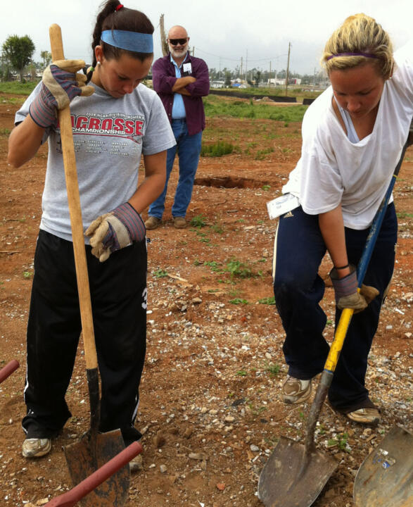 Notre Dame student-athletes performed more than 8,000 hours of community service during the 2011-12 academic year.