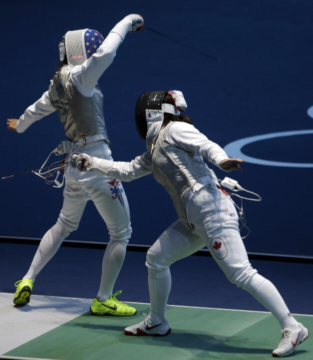 Lee Kiefer reached the Women's Individual Foil Quarterfinals on Saturday (AP)
