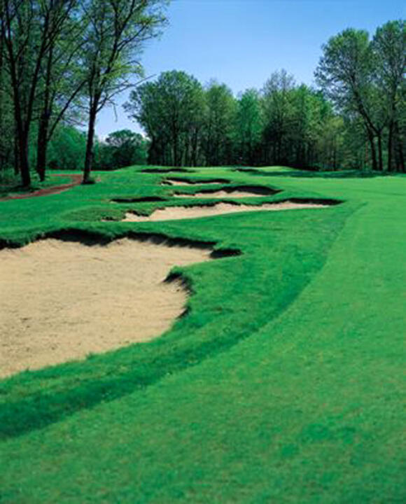 The 16th fairway at Notre Dame's Warren Golf Course.