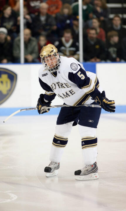 Former Irish defenseman Teddy Ruth is one of 15 former Notre Dame hockey players that will be attending the first-ever Notre Dame Pro Hockey camp from August 27 to August 30 at the Compton Family Ice Arena
