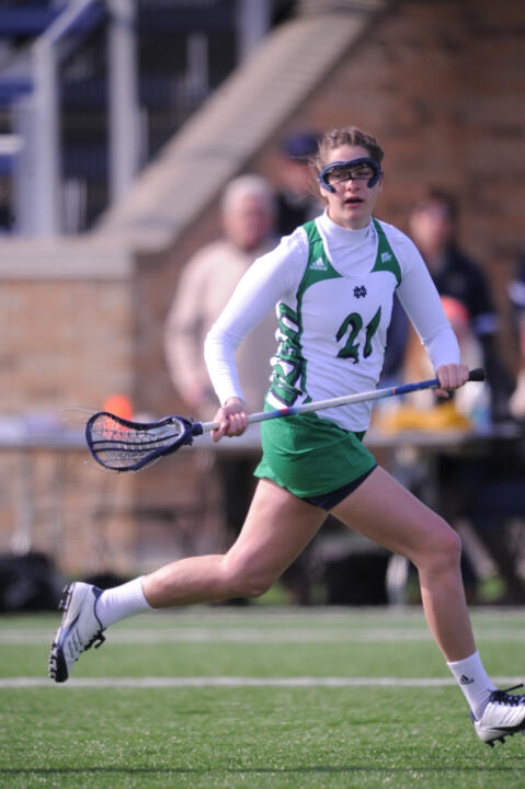 Senior McKenzie Brown was one of three Irish student-athletes to earn academic honors from the IWLCA.