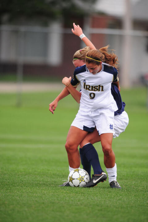Sophomore forward Lauren Bohaboy scored on a penalty kick in the ninth minute of Sunday's 1-1 exhibition draw against Baylor at the Notre Dame Practice Field.