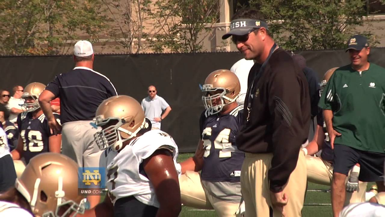 Mike Elston - 2012 Media Day Interview - Notre Dame Football
