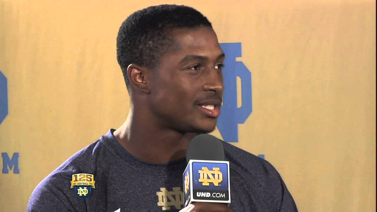 Jamoris Slaughter Interview - UND.com 2012 Notre Dame Football Media Day Live