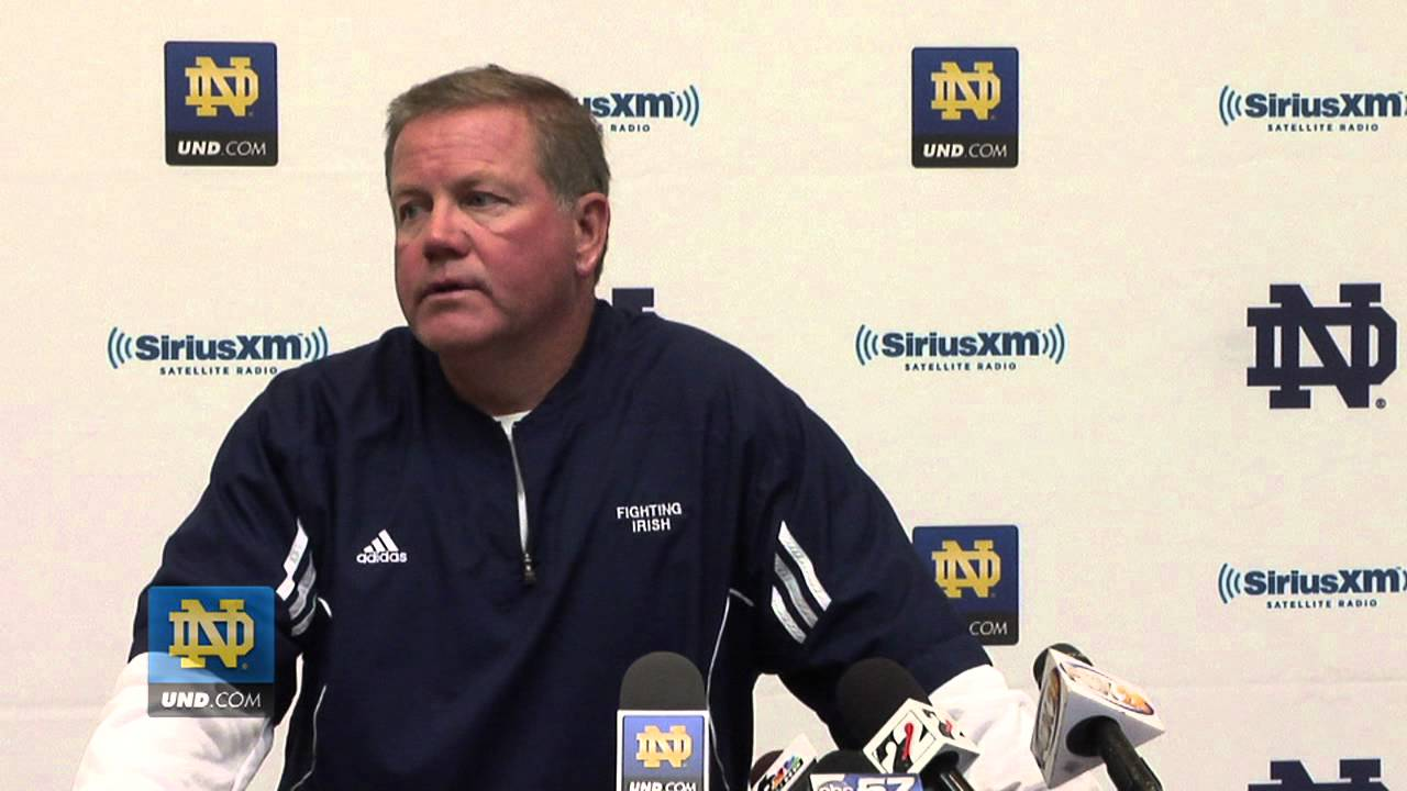 Brian Kelly Post Practice - Aug. 11, 2012
