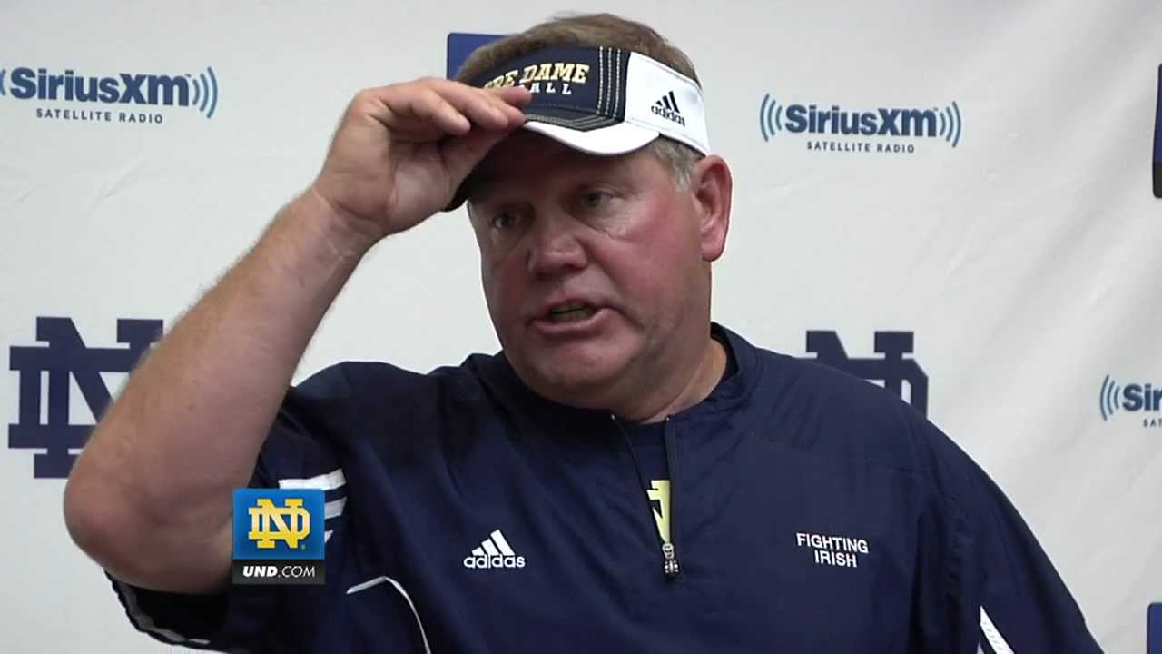 Brian Kelly Post Practice - Aug. 8, 2012