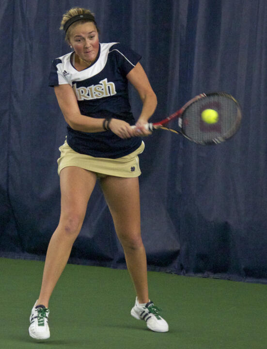 Sophomore Katherine White won three matches in her Notre Dame debut last season at the Hoosier Classic