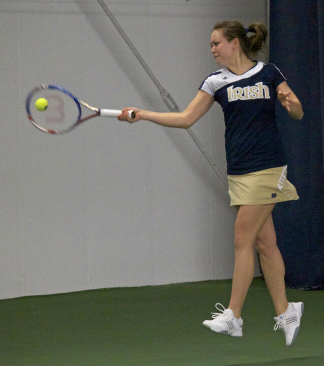 Senior Chrissie McGaffigan was one of five Irish players to earn singles wins Sunday