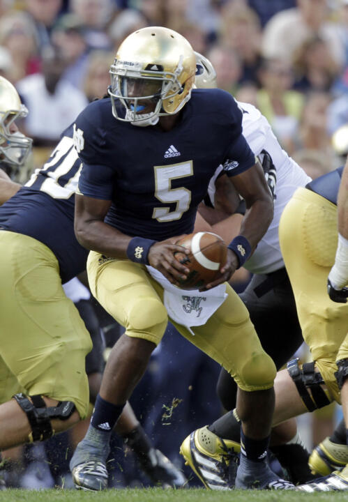 Everett Golson threw for 289 yards and one touchdown. He also scored a rushing touchdown.