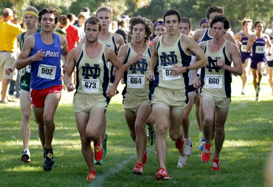 Senior Jeremy Rae finished sixth in the men's blue race on Friday to help the Irish to a third place finish.