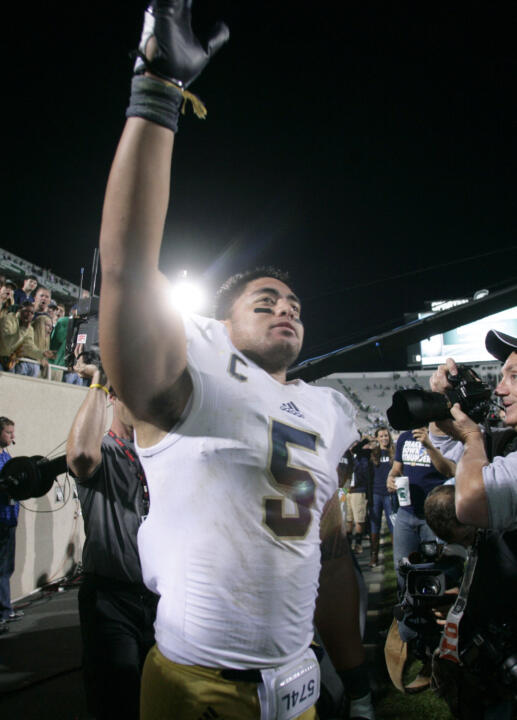 Senior linebacker Manti Te'o has helped Notre Dame to its first 3-0 start since 2002.