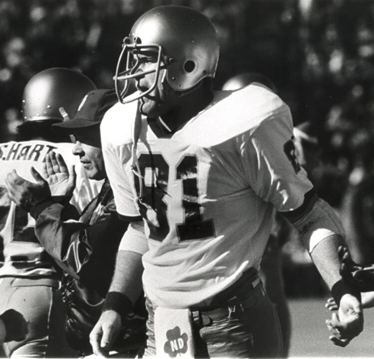 1977 Walter Camp Award winner Ken MacAfee ('78) and the rest of the '77 national championship football team return to campus this weekend to celebrate their 35th anniversary reunion.