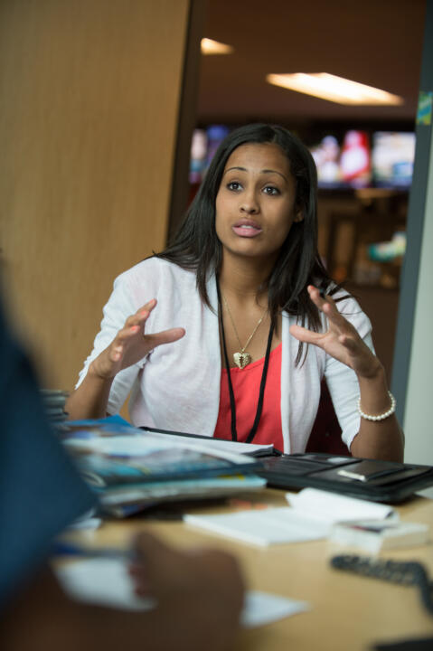 Skylar Diggins edited copy, assisted with interviews and even wrote certain scripts for SportsCenter anchor Jay Harris.