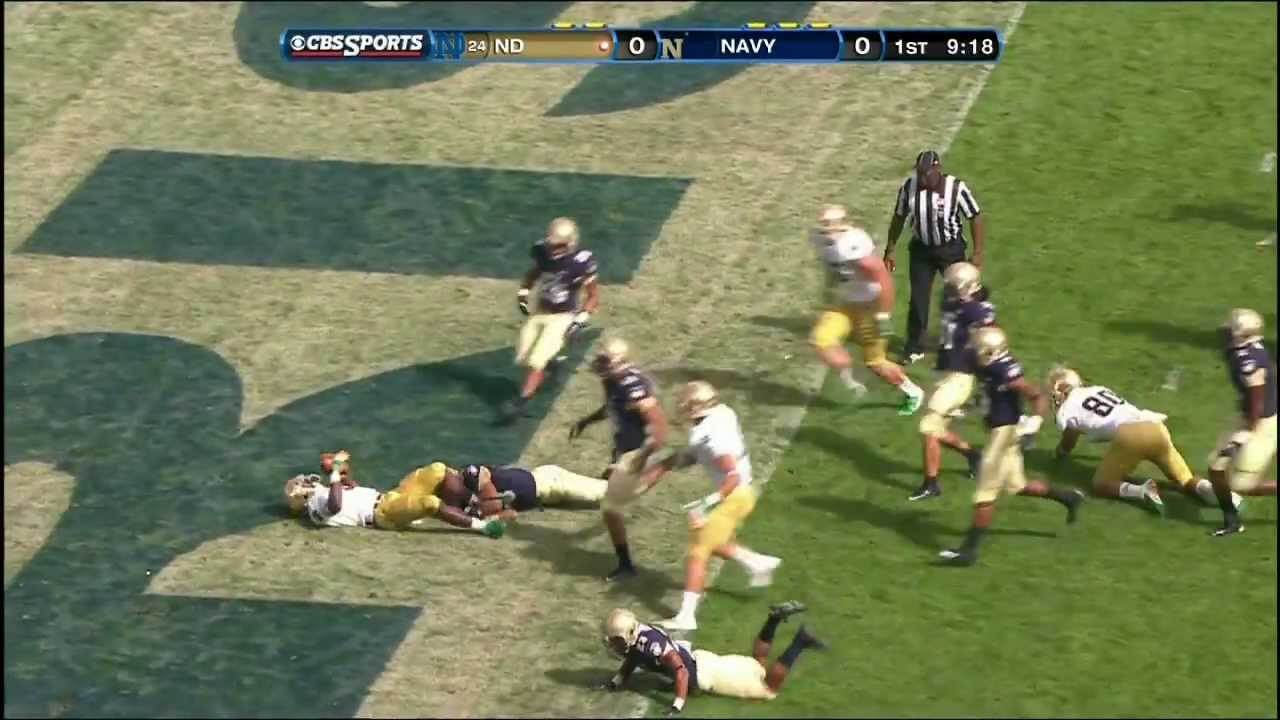 Notre Dame Football vs. Navy Highlights - Sept. 1, 2012