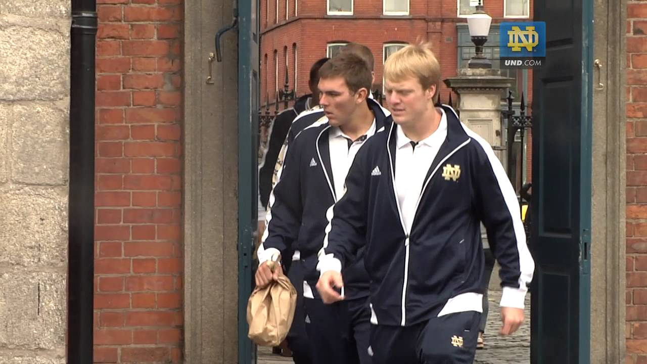 Notre Dame Football - Tour of Dublin, Ireland