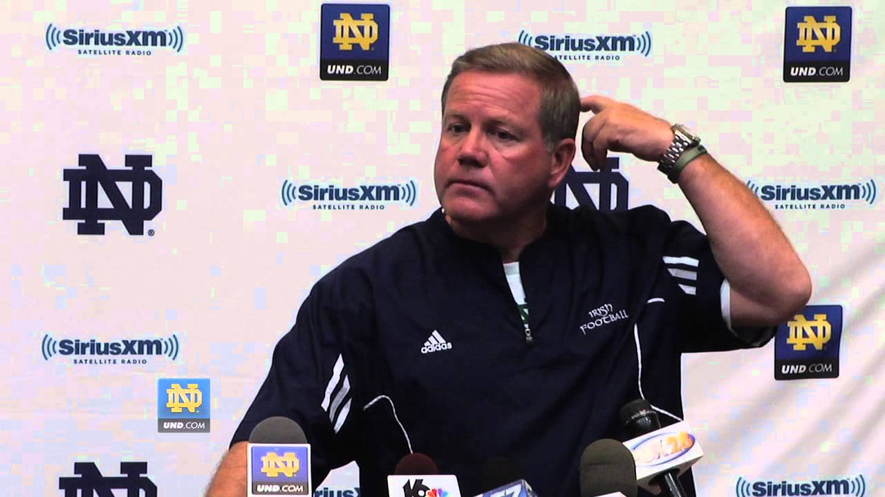 Brian Kelly - Post Practice Sept. 20th, 2012 - Notre Dame Football