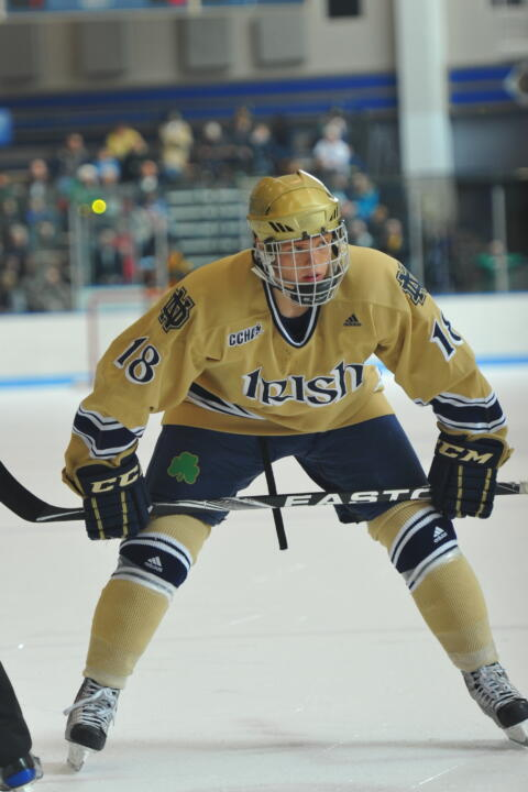 Junior center T.J. Tynan needs just one more point to become the 47th player in Notre Dame history to record 100 or more points in his career.