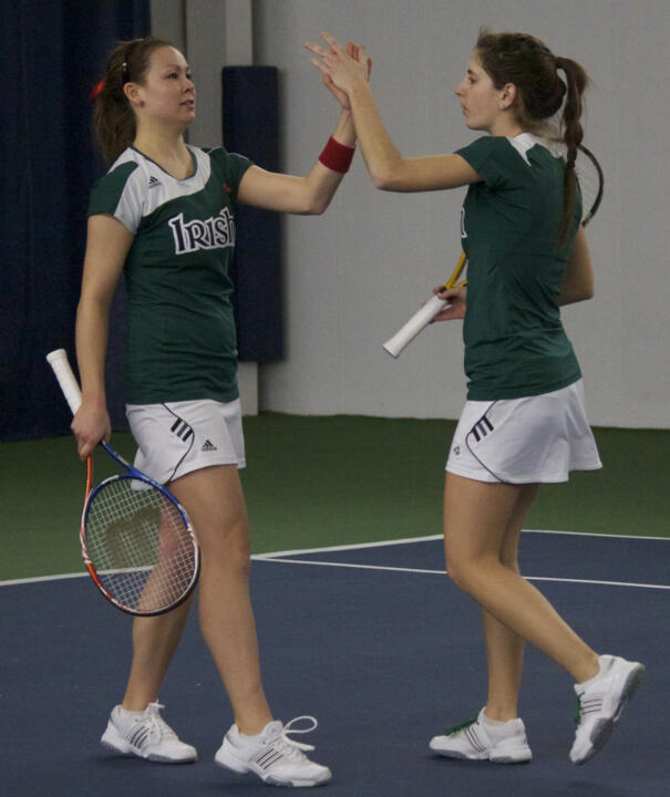 Chrissie McGaffigan and Jennifer Kellner wiil compete Friday in the Round of 64 doubles draw at the USTA/ITA Midwest Regional