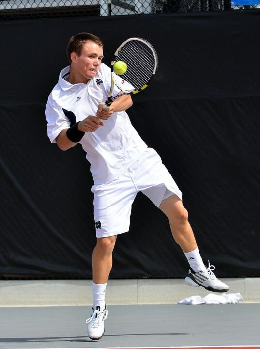No. 24 Greg Andrews opens play at the ITA All-American Championships on Thursday.