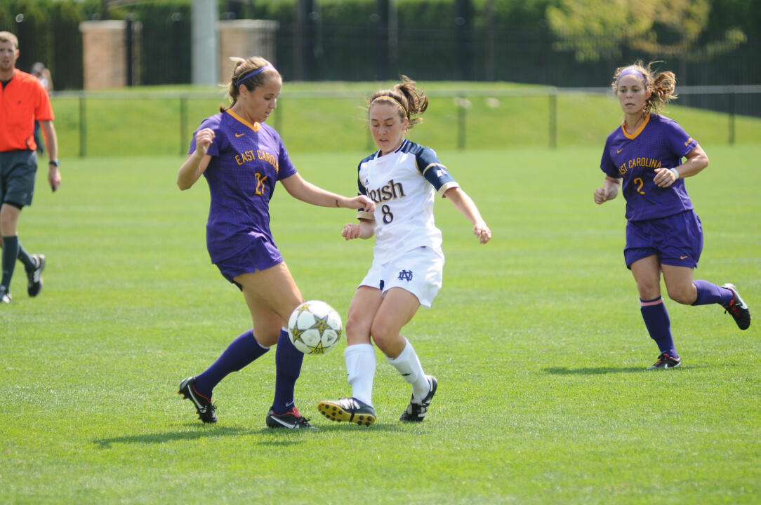 The last time Notre Dame visited DePaul in 2010, then-freshman (and current junior) midfielder Elizabeth Tucker scored both Fighting Irish goals in a 2-0 win.