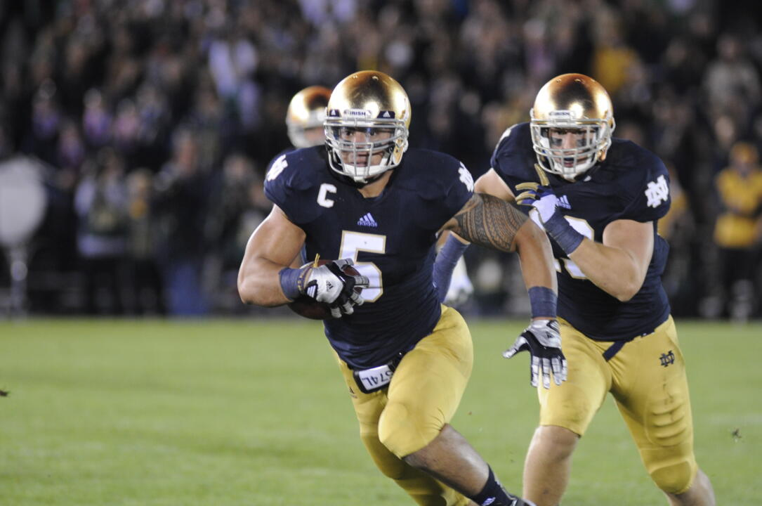 Manti Te'o became the 17th Notre Dame football player to be named a National Scholar-Athlete by the National Football Foundation