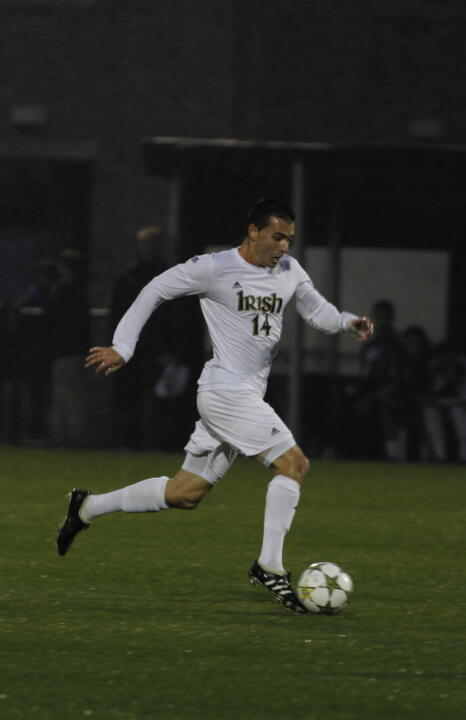 Senior midfielder Danny O'Leary put the first two goals on the board for the Fighting Irish.