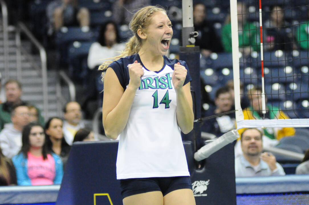 Senior Hilary Eppink had 10 kills and hit .438 in Notre Dame's 3-1 win over St. John's on Sunday.