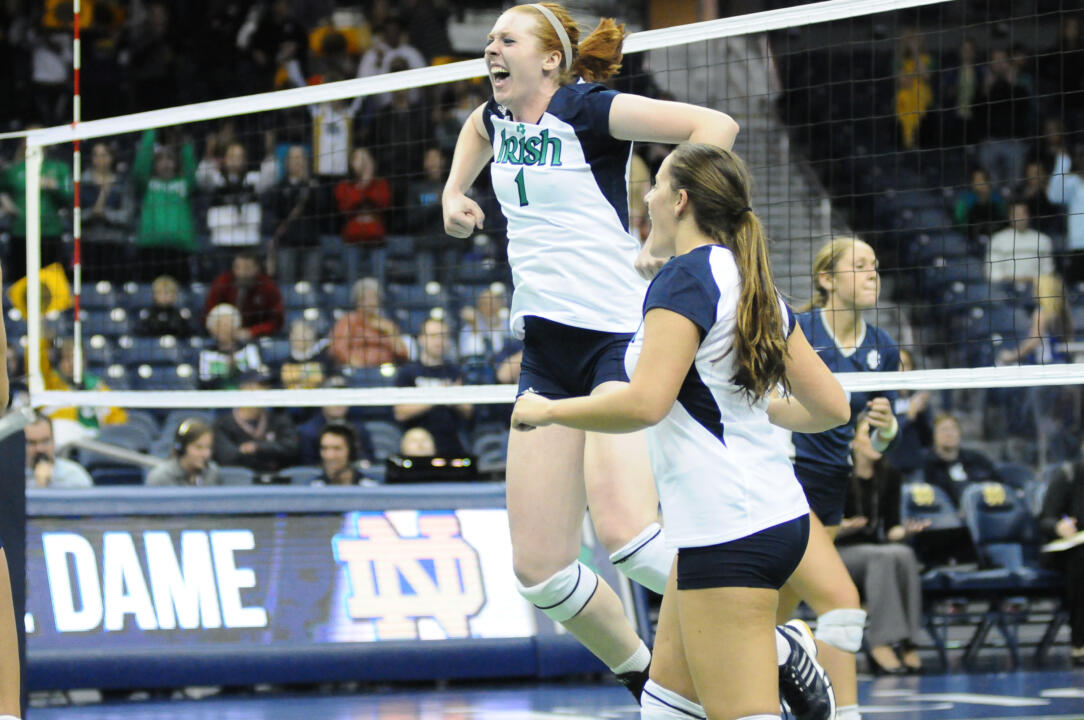 Junior Andie Olsen leads the team in blocks with a 0.98 per set average as the Irish sit first in the BIG EAST in blocks per set (2.87) in league play.