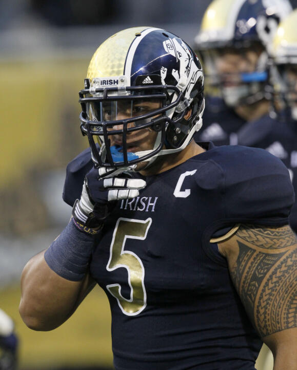 All-America linebacker Manti Te'o has a cumulative grade-point average above 3.3 and is set to graduate this December.