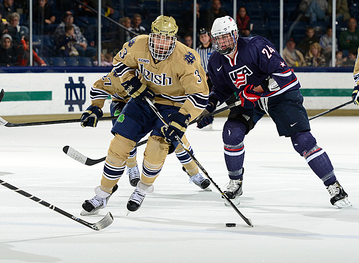 Junior defenseman Shayne Taker and his Notre Dame teammates will open the season in Kansas City, Mo., this weekend in the Ice Breaker Tournament.
