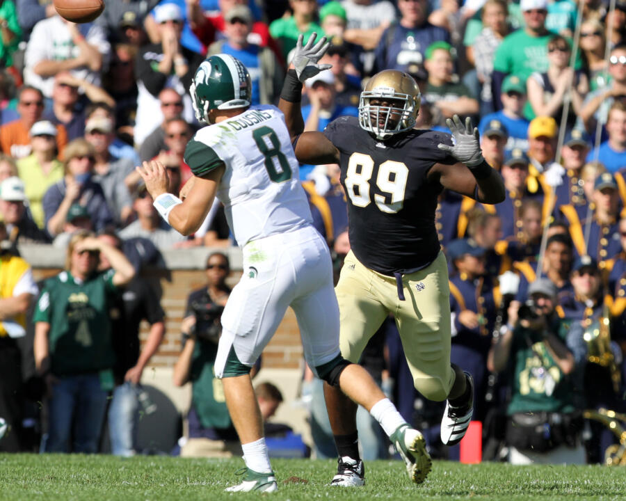 Kapron Lewis-Moore had his season cut short in 2011 with a knee, but he has once again emerged as a stalwart on defense for Notre Dame this season.