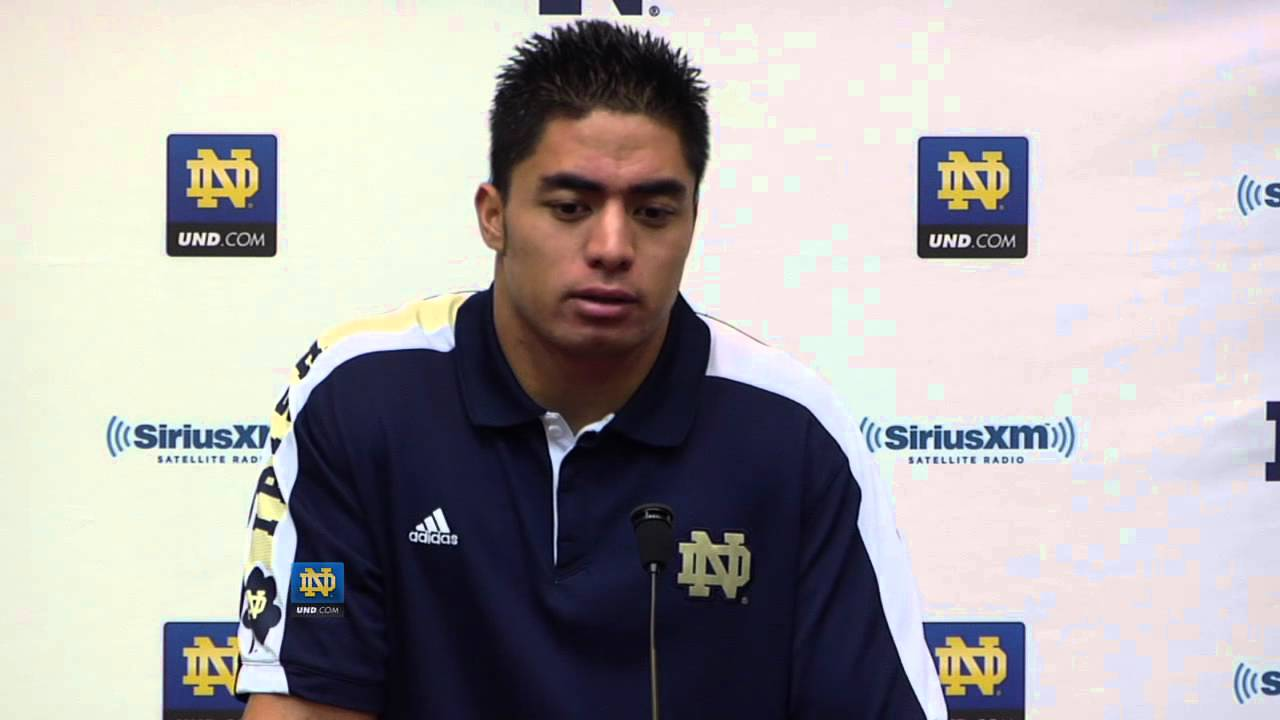 Manti Te'o Press Conf. Oct. 10th, 2012 - Notre Dame Football