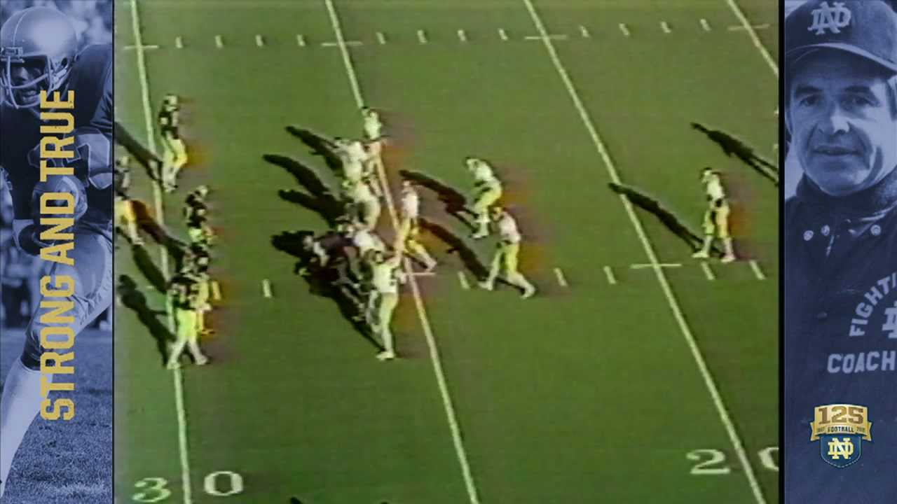1979 vs. Michigan - Crable FG Block - 125 Years of Notre Dame Football - Moment #046