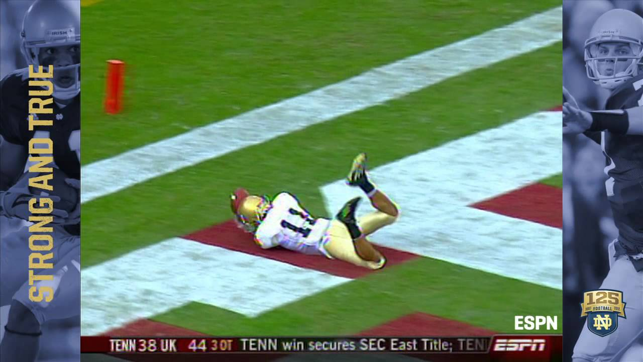 2007 vs. Stanford - David Grimes Catch - 125 Years of Notre Dame Football - Moment #050
