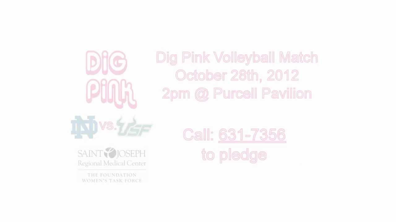 Notre Dame Volleyball Dig Pink TV Spot
