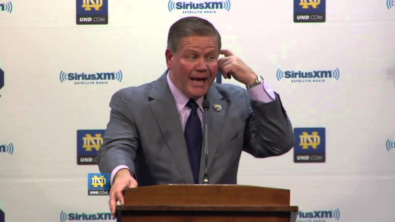 Brian Kelly Post BYU Press Conference - Notre Dame Football