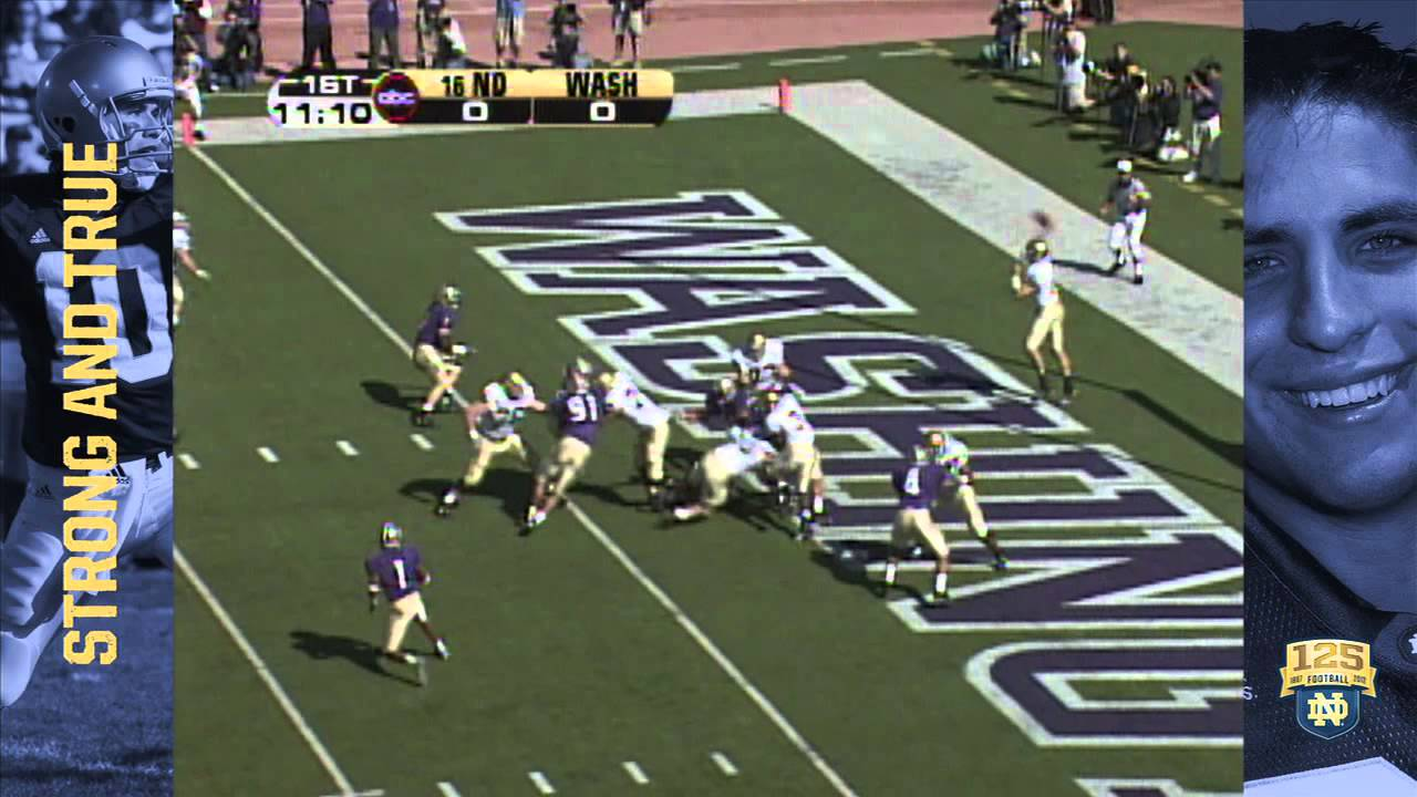 2005 vs. Washington - Pass Right - 125 Years of Notre Dame Football - Moment #060
