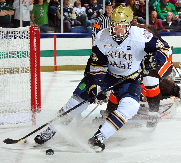 Junior defenseman Stephen Johns leads Notre Dame with seven assists on the season.