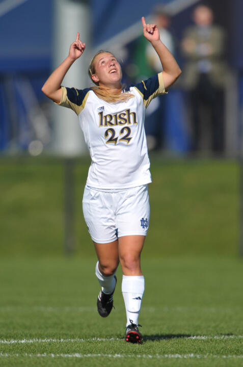 Freshman forward Crystal Thomas scored her 10th goal of the season with 19:35 to play, propelling Notre Dame to a 2-1 win over No. 10/12 Wake Forest in the second round of the NCAA Championship on Friday night in Gainesville, Fla.