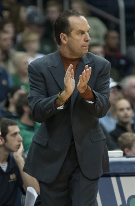 Notre Dame head coach Mike Brey is heavily involved in the Coaches vs. Cancer program.