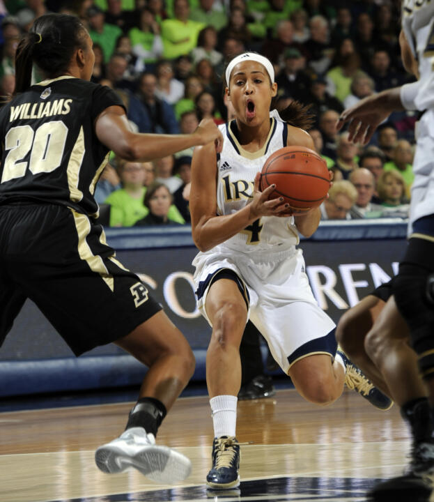 Skylar Diggins gets ready to pass.