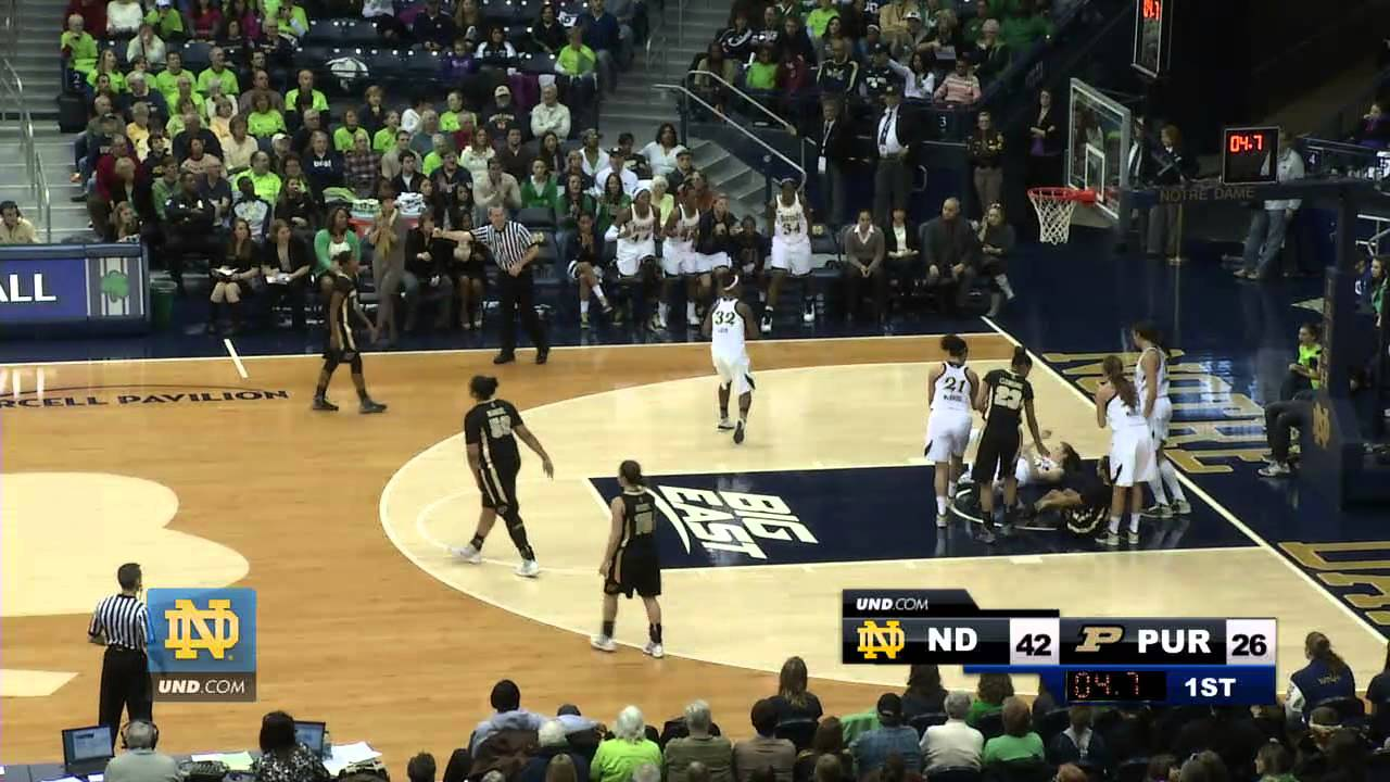 Notre Dame Women's Basketball - Purdue Highlights
