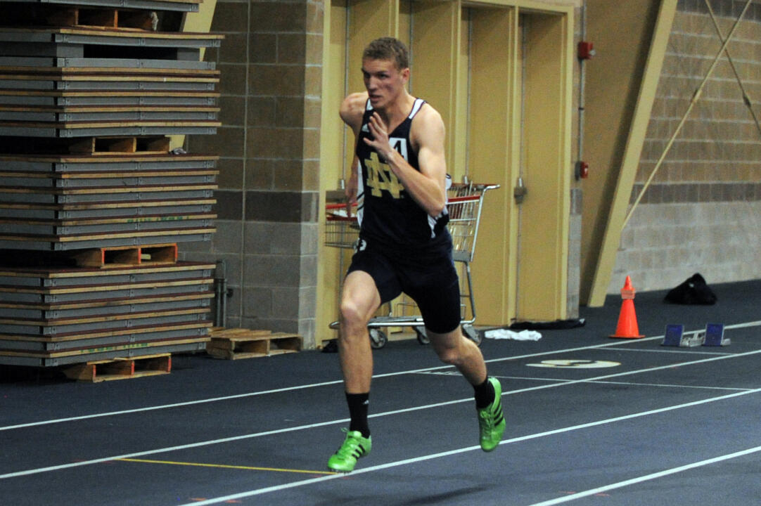 Chris Giesting finished first in the 600m run with a winning time of 1:19.55.