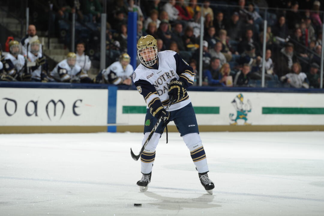 Sophomore defenseman Robbie Russo leads all CCHA defensemen in scoring with 15 points in his first 18 games.