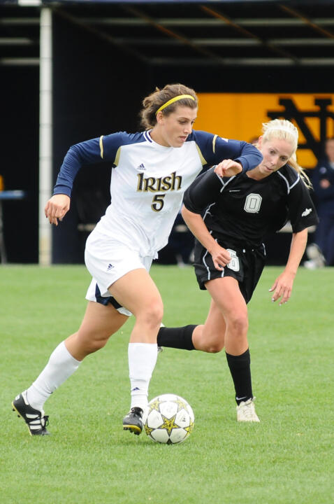 Versatile rookie Cari Roccaro became the fifth Notre Dame player to be chosen as the <i>Soccer America</i> Freshman of the Year, the magazine announced Monday.